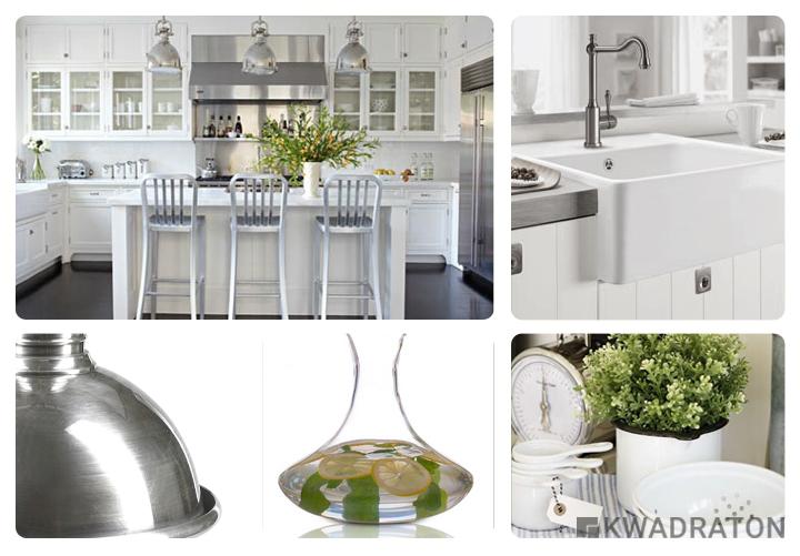 Biała kuchnia w różnych stylach  Kwadraton -> Kuchnia Retro Biala