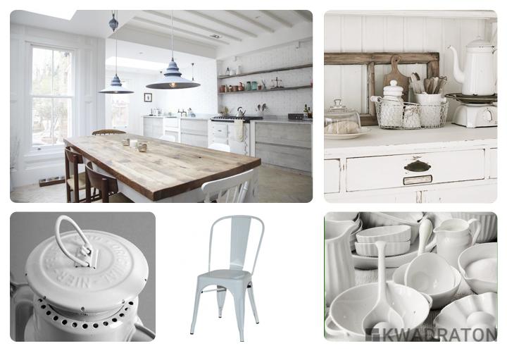 Biała kuchnia w różnych stylach  Kwadraton
