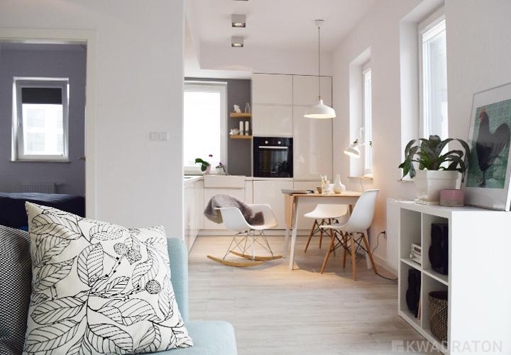 Małe mieszkanie w skandynawskim stylu  Kwadraton