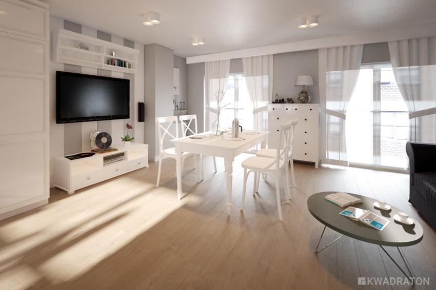 Kwadraton dom w stylu skandynawskim