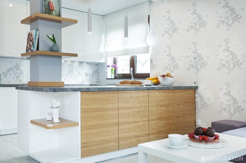 Pastelowe wnętrze  Kwadraton -> Kuchnia Tapeta Krata